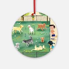 dog_park_calendar Round Ornament