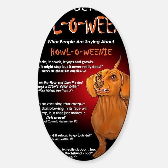 howloweeniecard1 Sticker (Oval)