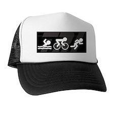Copy of black tri Trucker Hat