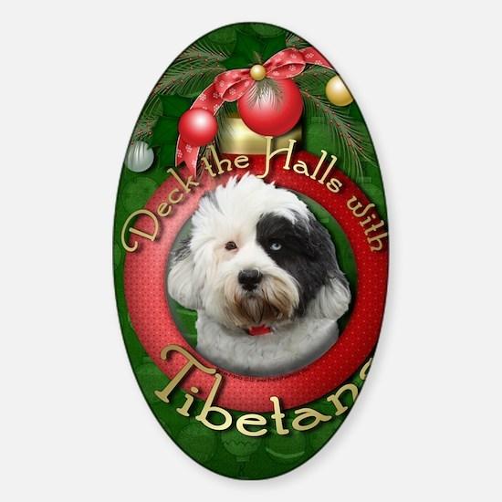 DeckHalls_Tibetans Sticker (Oval)