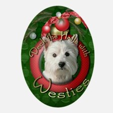 DeckHalls_Westie Oval Ornament