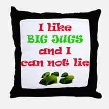 big jugs.gif Throw Pillow