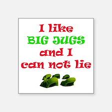 "big jugs.gif Square Sticker 3"" x 3"""