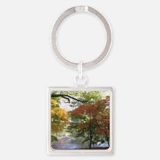 Fall Square Keychain