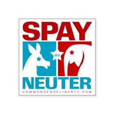 "2-spay_or_neuter Square Sticker 3"" x 3"""