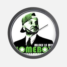 2-mises_is_my_homeboy Wall Clock