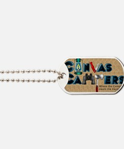 logo_stacked_bkgd Dog Tags