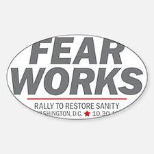 Fear Works Sticker (Oval)