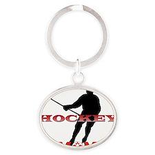 Hockey Mom Canada Oval Keychain