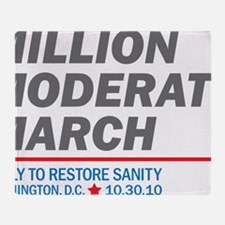 Million Moderate March Throw Blanket