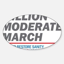 Million Moderate March Sticker (Oval)