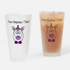 Custom Cartoon Unicorn Drinking Glass