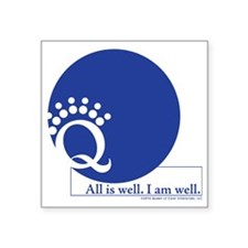 "Blue is Well Square Sticker 3"" x 3"""