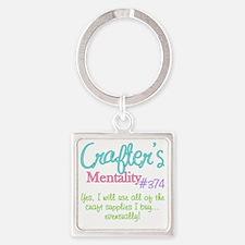 374-craft Square Keychain