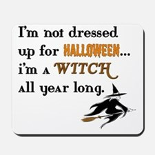 Witch all year long copy2 Mousepad
