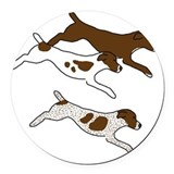German shorthaired pointer Round Car Magnets