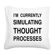 simulating Square Canvas Pillow