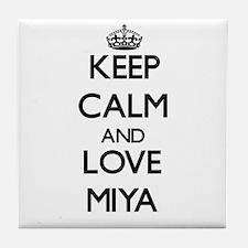 Keep Calm and Love Miya Tile Coaster