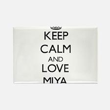 Keep Calm and Love Miya Magnets