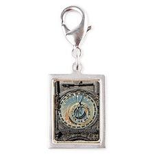 astronomical clock Silver Portrait Charm