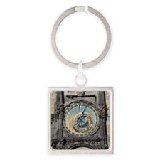 astronomical clock Square Keychain