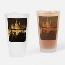 prague castle night Drinking Glass