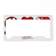 3-Peace-Love-Dive License Plate Holder