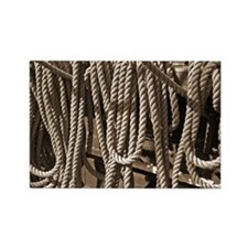 ropes for the rigging SEPIA Rectangle Magnet