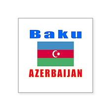 "Baku Azerbaijan Designs Square Sticker 3"" x 3"""