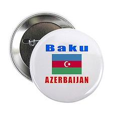 """Baku Azerbaijan Designs 2.25"""" Button"""