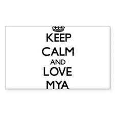 Keep Calm and Love Mya Decal