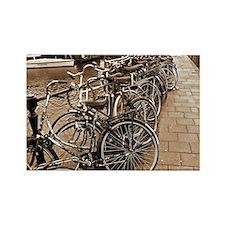 2-november bicycles SEPIA Rectangle Magnet