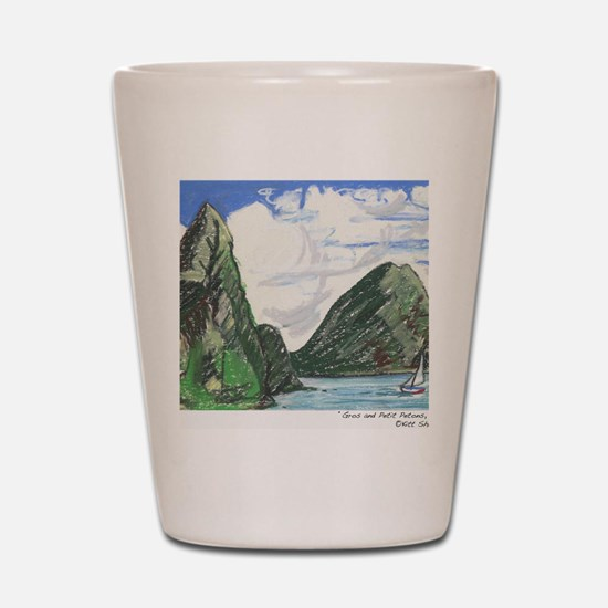 Gros and petit petons st lucia Shot Glass