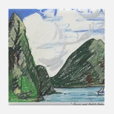 Gros and petit petons st lucia Tile Coaster
