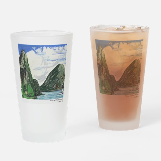 Gros and petit petons st lucia Drinking Glass