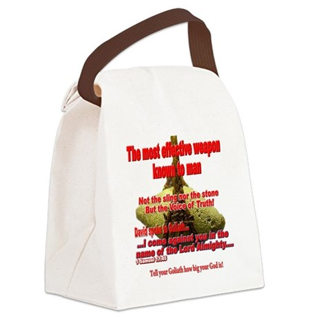 effective_weapon_tee Canvas Lunch Bag