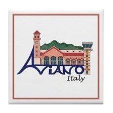 Aviano, Italy Tile Coaster
