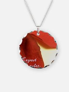 redrosepetals Necklace Circle Charm