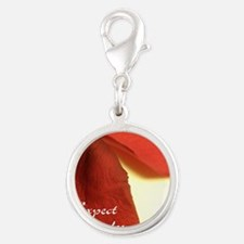 redrosepetals Silver Round Charm