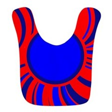 Abstract Blue and red Bib
