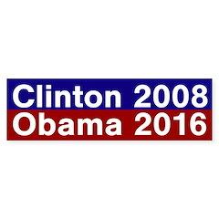 Clinton 2008, Obama 2016 bumper sticker