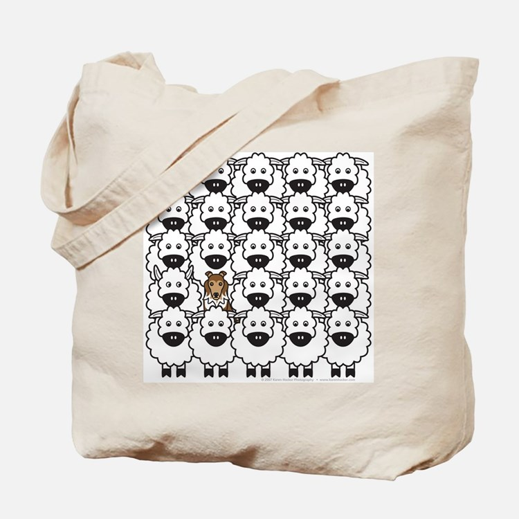 Sheltie in Sheep Tote Bag