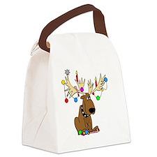 Reindeer Dog Canvas Lunch Bag