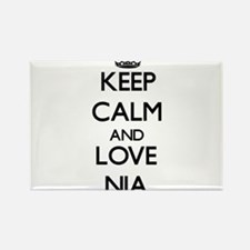 Keep Calm and Love Nia Magnets