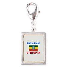 Addis Ababa Ethiopia Designs Silver Portrait Charm