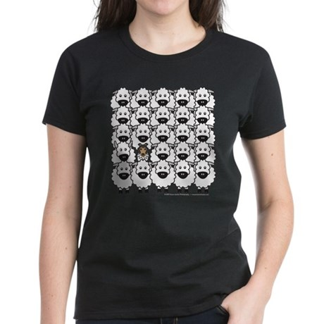 Sheltie in Sheep Women's Dark T-Shirt