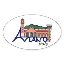 Aviano, Italy Oval Decal
