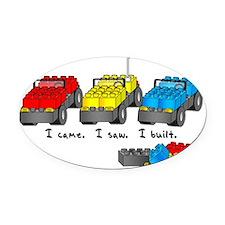 veni vidi lego Oval Car Magnet