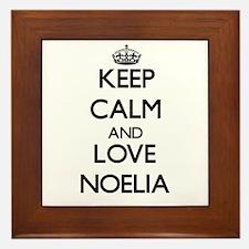 Keep Calm and Love Noelia Framed Tile