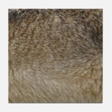 Wolf fur print Tile Coaster
